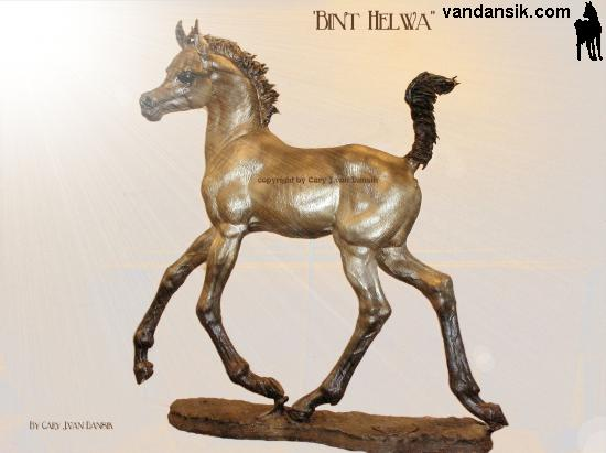 Bronze Horses, live-size Bint-Helwa /sold out edition