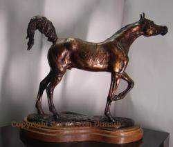 Arabian thoroughbred Stallion mini desksize