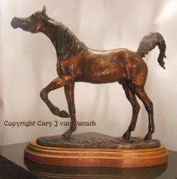 Arabian thoroughbred Stallion mini desksize
