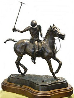 Polo player of bronze