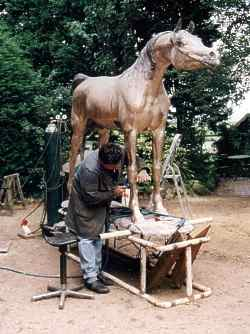 paard Beeldhouwwerk